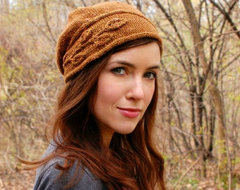Pdf knitting pattern for stylish face-framing cloche