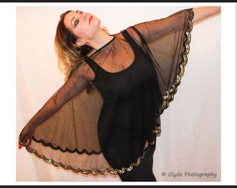 Little Black Dress with Shawl