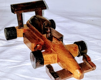 Indonesian Race Car  Hand Carved   Natural Color  Balinesian Art