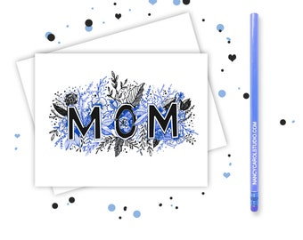 First Mothers Day - Hand Illustrated Card - Mothers Day  - Card for Mothers Day