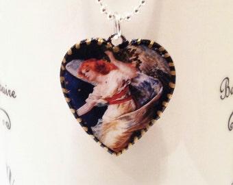 Beautiful Angel Pendant. Lovingly handmade in Brooklyn by Wishing Well Studio.