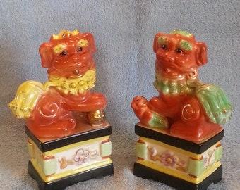 Foo Dogs - A Pair - Shi Shi Dogs