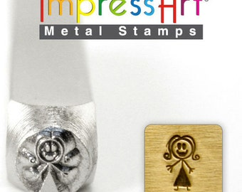 Metal Stamp-Mama Stick Figure ImpressArt- 7mm  Metal Design Stamp-Metal Supply Chick-Perfect for Your Hand Stamping Needs-Steel Stamps