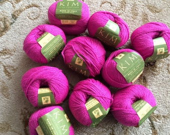 "Lot of 10 skeins-Filtes King ""Kim"" Yarn-Coloway 494-Pink-Discontinued"