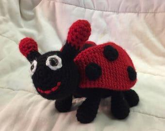Amigurumi Ladybug, Crochet Toy Ladybug ,Plush Ladybug, Crochet animal