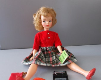 Vintage Ideal Tammy Doll, School Daze Outfit 1960's