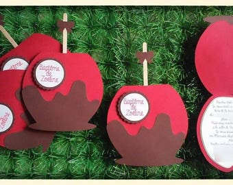 toffee Apple announcement or invitation