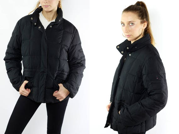 TOMMY HILFIGER Jacket / Tommy Hilfiger Puffer Jacket / Puffer Jacket Black / Down Jacket Black / Womens Jacket Tommy / Black Winter Jacket