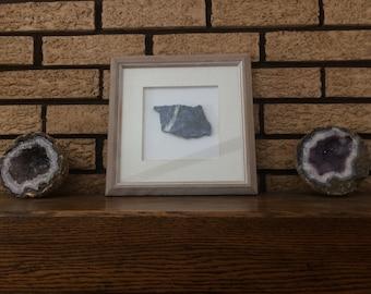Framed Sodalite Slice Wall Art
