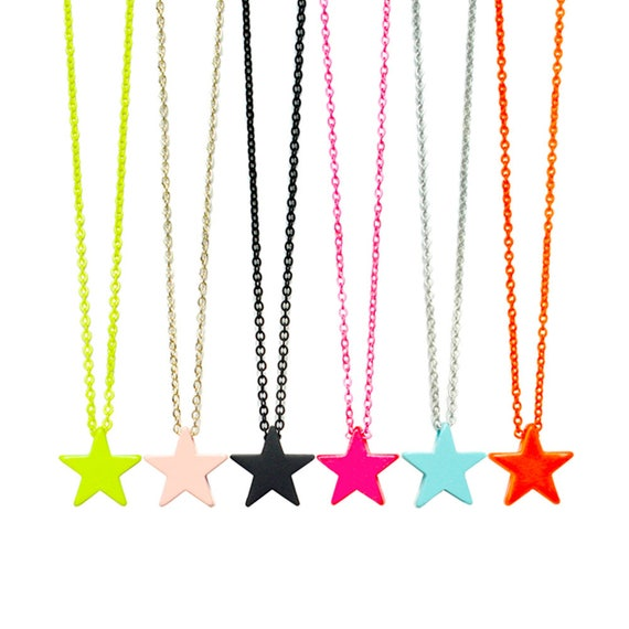 Neon Star Pendant Necklace