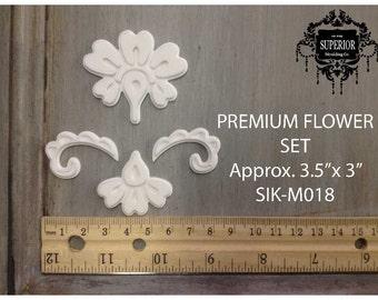 PREMIUM FLOWER SET Superior Moulding Co. Decorative Furniture Applique