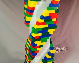 LEGO® Lamp - XL Multicolored Rainbow Spiral Staircase Lamp