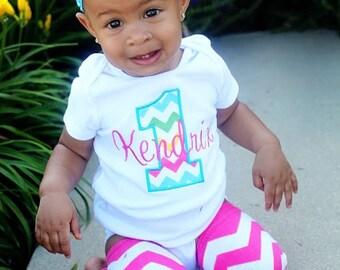 Girls First Birthday Shirt - Girls First Birthday Outfit - First Birthday Girl Shirt - Rainbow Birthday Shirt