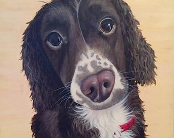 Custom Pet Portraits - original acrylic painting on canvas