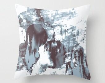 Abstract Throw Pillow. 18x18 Pillow Case. Watercolor Effect Cushion Cover. Bohemian Pillow. Sofa Pillow. Modern Cushion. Decorative Pillow.