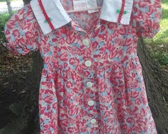 Size 4 Girls Vintage Rose Cottage Dress