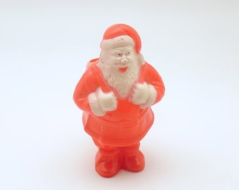 Vintage Christmas Decoration Santa Candy Container