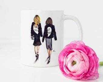 BFF Blonde and Brunette (mug)