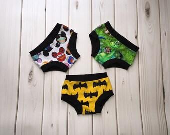 Custom Underwear - Handmade Underwear -Training Underwear - Disney Underwear - Toddler Underpants - Training Pants - Potty Training