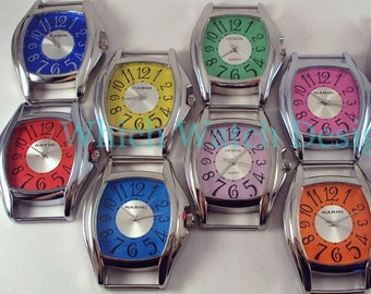 Large Whimsy.. 2-inch Solid-Bar, Ribbon, Interchangeable, Silver Plated Watch Face