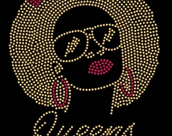 """Birthday, Month, Celebrate, Bling, Diva, Rhinestone """"Queens Are Born In"""" T-Shirt"""