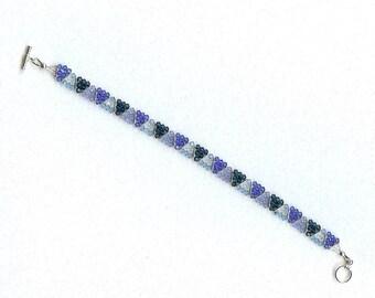 2121 Schattierungen von Blau Kristall Armband