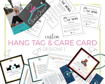 Custom Hang Tag Design | Custom Product Tag Design | Custom Care Card Design | Custom Price Tag Design | DIGITAL FILES ONLY