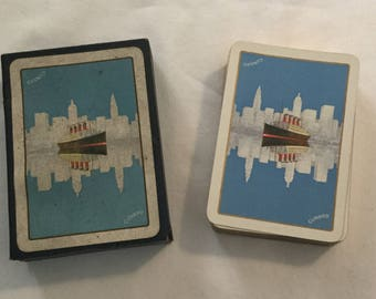 Vintage Deck of Cunard Cruise Lines Playing Cards