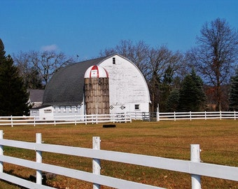 White Fence Barn-8x10 Photo