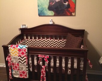 Custom Fitted Crib Sheet Cowhide Fabric
