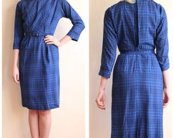 1950s Dress // Saba Jr Sheath Dress // vintage 50s dress