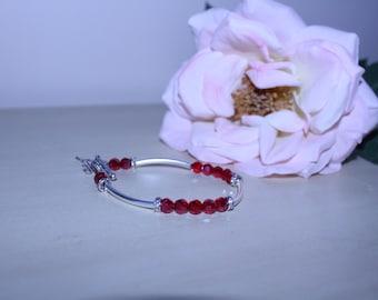 Bracelet•women's bracelet•red crystals•diamonds•fairy charm