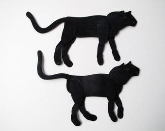SALE Black Panther / articulated decoration  / Hinged Beasts Series