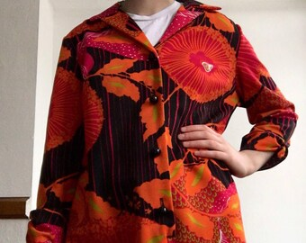 70's polyester shirtdress