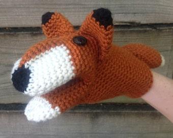 Fox Crochet Hand Puppet