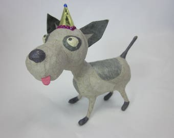 Dog in a party hat  decoration