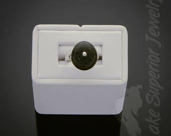 Lake Superior Basalt Stone Sterling Silver adjustable ring