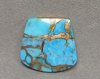 KINGMAN TURQUOISE with BRONZE Cabochon