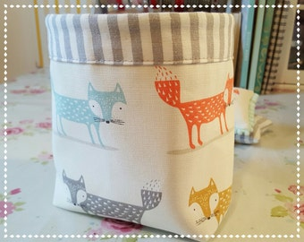 Thread Catcher with Pin Cushion / Shabby Chic / Country Cottage / Pin Cushion / Foxy Fox/Gifts For Her