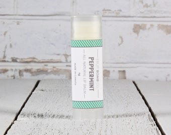Peppermint Lip Balm - Natural Moisturizing Lip Balm