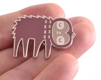 Sloth Pin Badge / Cute Stocking Filler / Sloth Gift / Sloth Enamel Pin / Animal Enamel Pin / Cute Xmas Gift / Sloth Badge / Sloth Christmas