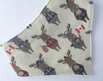 Moose Bandana Bib - Baby Bib - Baby - Moose Bib - Baby Bandana Bib - Bib - Drool Bib - Canada Bib - Baby Shower Gift - Maple Syrup Bib