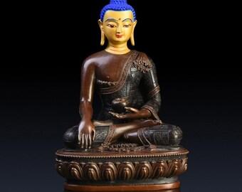 Shakyamuni Buddha Statue in Copper