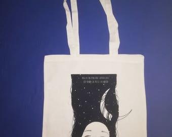 """Shopper bag Natural Color 100% cotton-print """"I want a gorgeous Skin"""" (Afterhours)"""