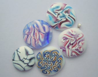 Dichroic Fused Glass Cabochon - Gem Stone - Cabochon Cab - Bead Supply- Glass Bead - Wire Wrapped - Stained Glass 4209