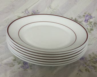 Small French Restaurant Plates (Set of 6)