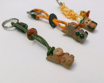 Funny Kids key fob with Fimo cows
