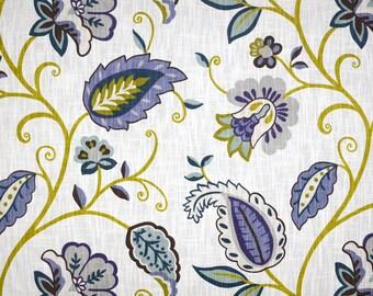 Petal Pusher Juniper Jacobean Floral Fabric