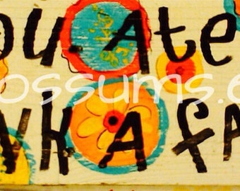 "5.5"" X 21"" #118 Retro Folk Art Sign Farmer Funky Chicken Signs"