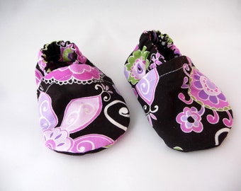 Girls Cloth Baby Shoes, Fabric Shoes, Pink Purple Black, Baby Shoes,Cute Baby Shoes,Cotton Baby Shoes,Baby Accessories,Baby Gift,Baby Shower